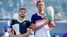 Marathon man Medvedev beats Goffin for Cincinnati crown
