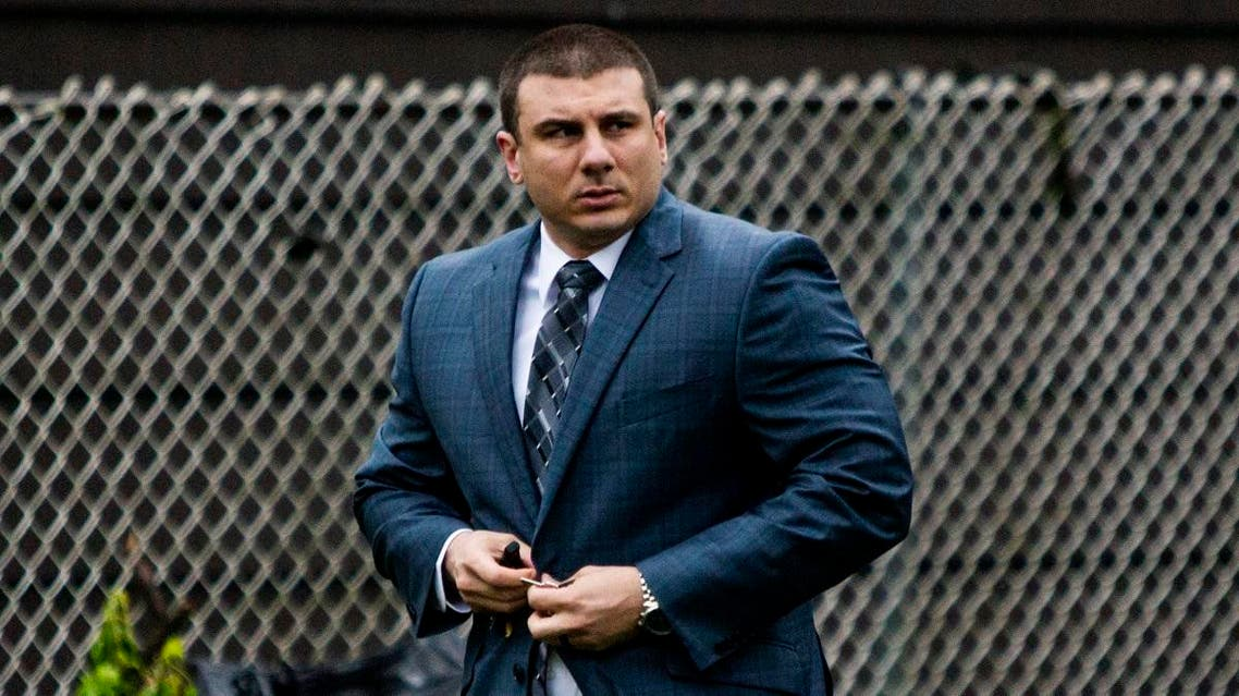 New York City police officer Daniel Pantaleo leaves his house Monday, May 13, 2019, in Staten Island, N.Y. (File photo: AP)
