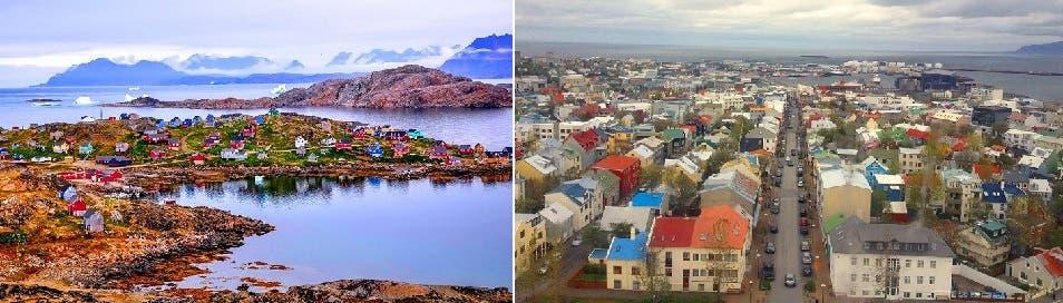 غرينلاد أكبر مساحة من السعودية بأقل من 16 ألف كيلومتر فقط، وأكثر من 88 % من سكانها من الإنويت الأسكيمويين، والباقي دنماركيين وأوروبيين