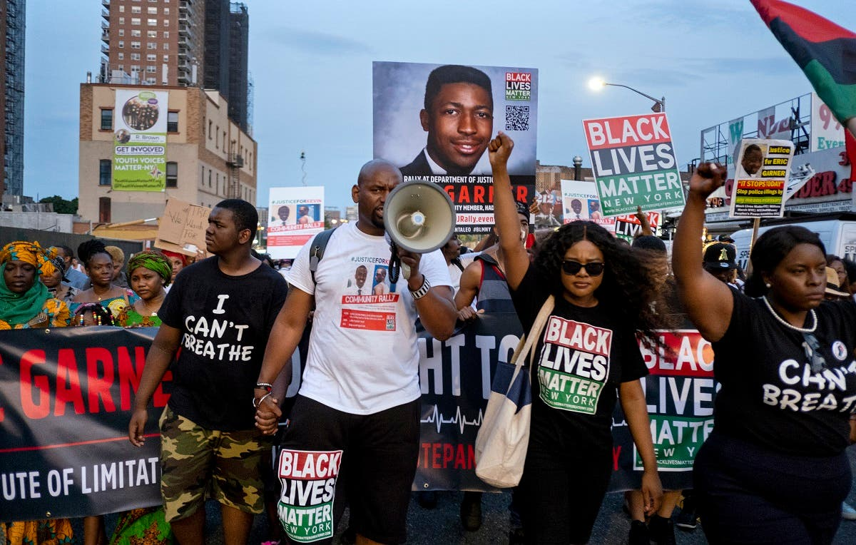Activists with Black Lives Matter protest in the Harlem neighborhood of New York. (File photo: AP)