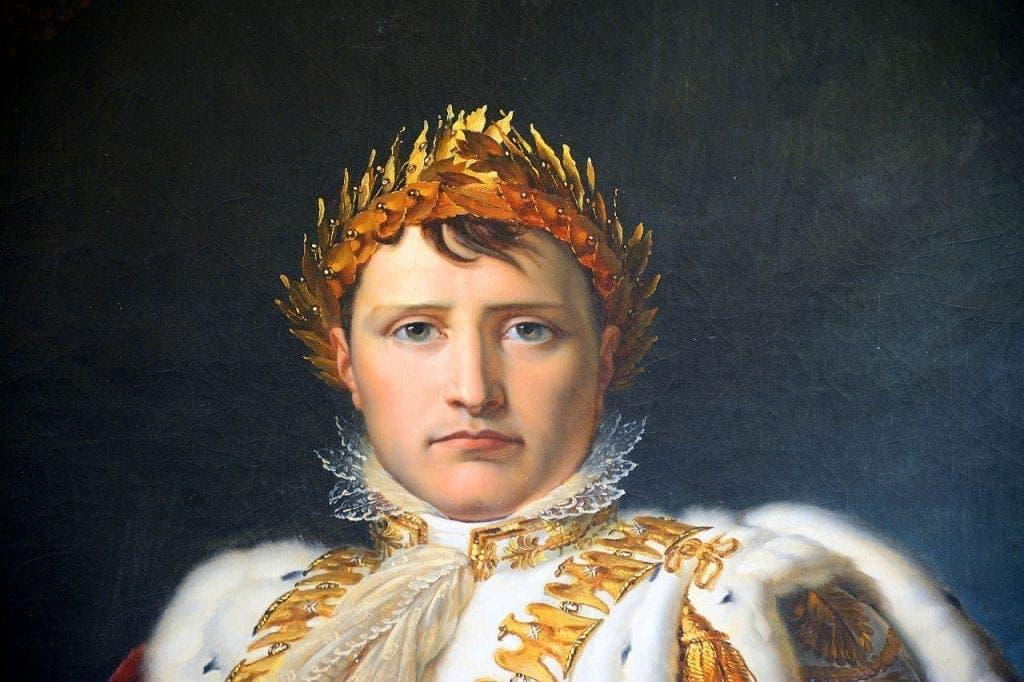 لوحة زيتية تجسد نابليون بونابرت