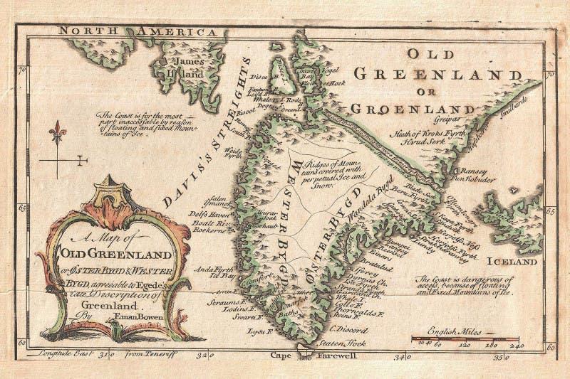 خريطة تعود لعام 1747 لغرينلاند