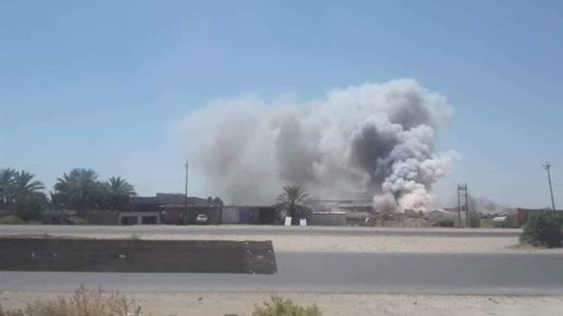 انفجار سابق لمستودع أسلحة للحشد الشعبي في صلاح الدين