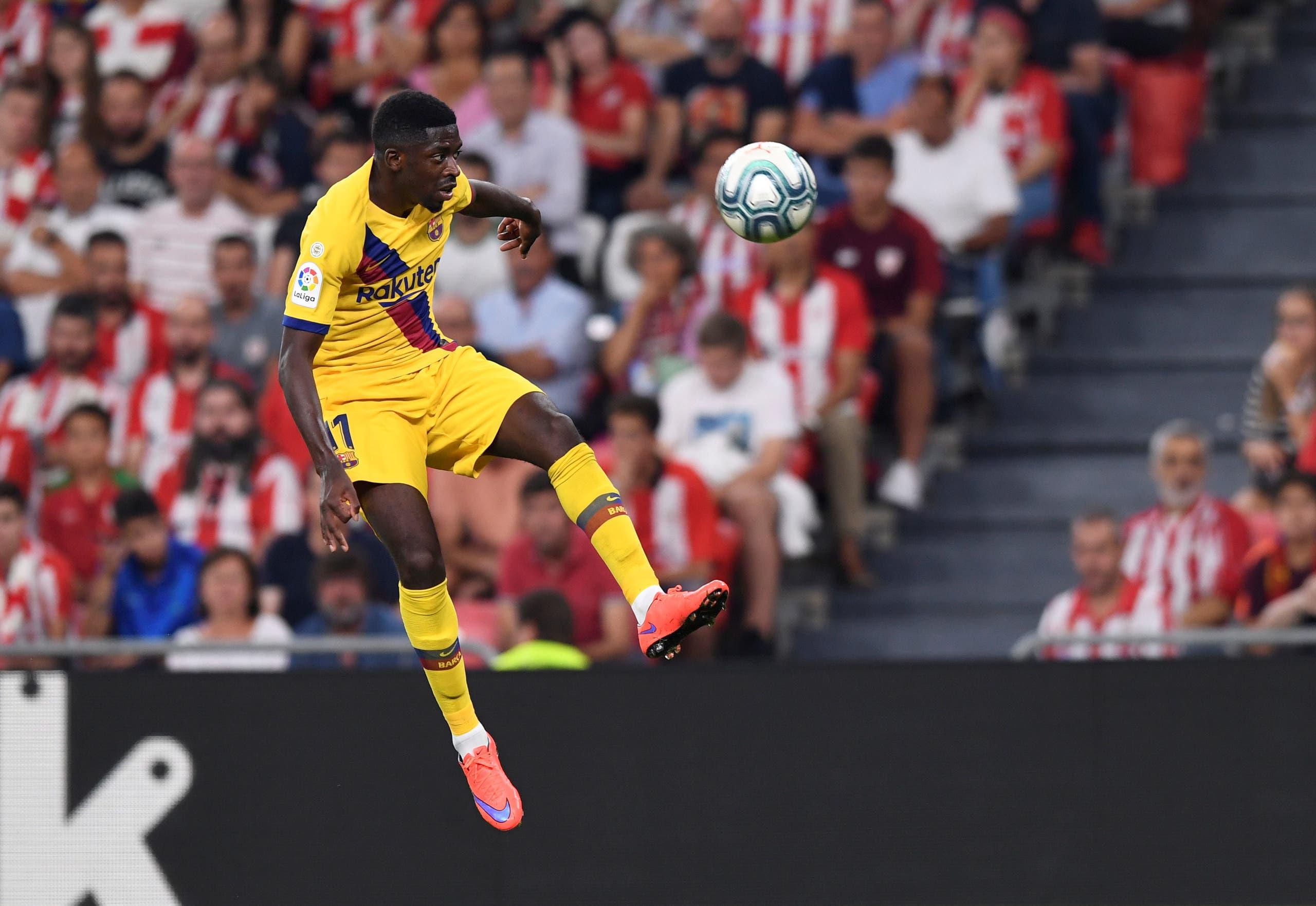 ديمبلي في مباراة الفريق الكاتالوني في افتتاح الدوري