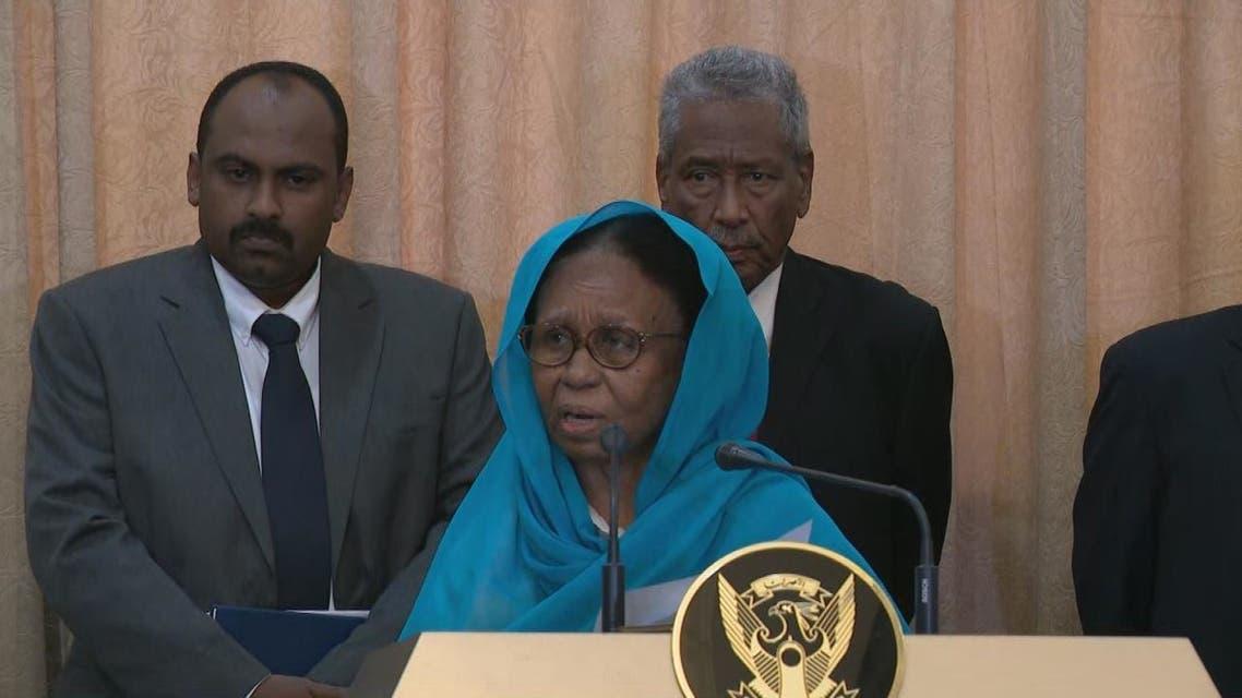 ماذا عضو مجلس السيادة السوداني عائشة موسى السعيد بعد أدائها القسم؟