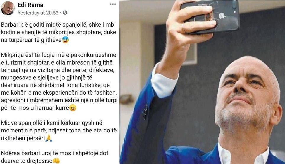 ما إن شاهد رئيس الوزراء الفيديو الذي بثوه إلى هاتفه المحمول عن هجمة ميهال حتى أسرع إلى فيسبوك وعبر فيه عن غضبه الشديد