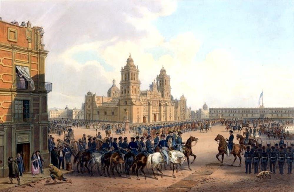 لوحة تجسد دخول القوات الأميركية لمكسيكو سيتي عام 1847