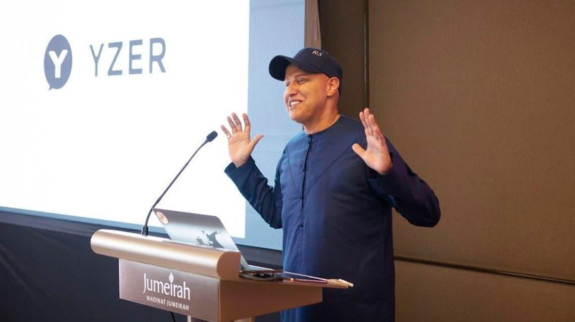 Dubai Entrepreneur Balvinder Singh Sahni (Abu Sabah) at the launch of YZER in Dubai
