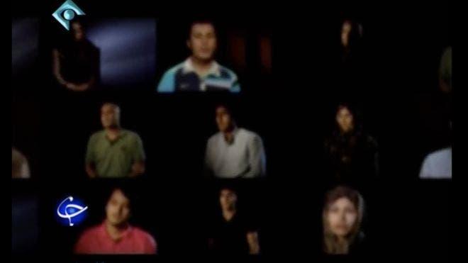 مازيار إبراهيمي وعدد من المتهمين باغتيال العلماء النوويين الإيرانيين في اعترافات متلفزة قبل إطلاق سراحهم