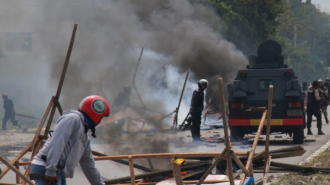 من الاحتجاجات في بابوا