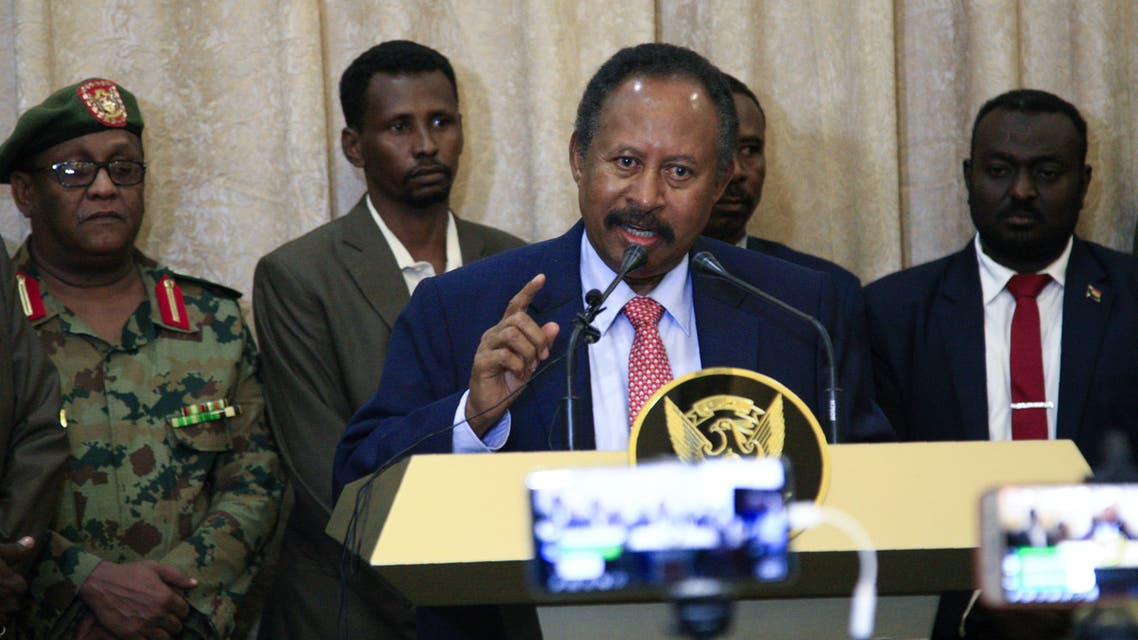 Sudan's new Prime Minister in the transitional government Abdalla Hamdok, addresses a news conference in Khartoum, Sudan August 21, 2019. REUTERS/Mohamed Nureldin Abdallah