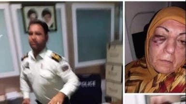 ضابط إيراني يضرب سيدة عراقية.. وفيديو تروي فيه الحادثة