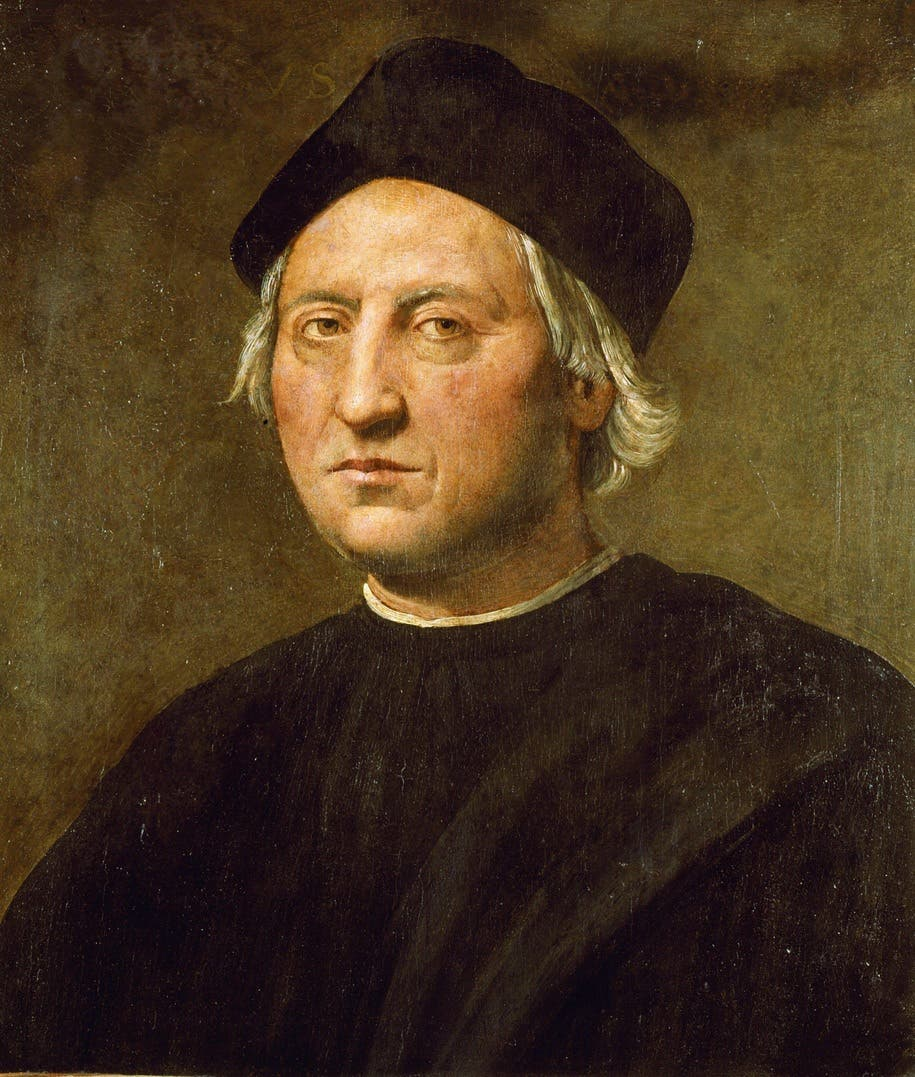 لوحة زيتية للمستكشف كريستوف كولومبوس