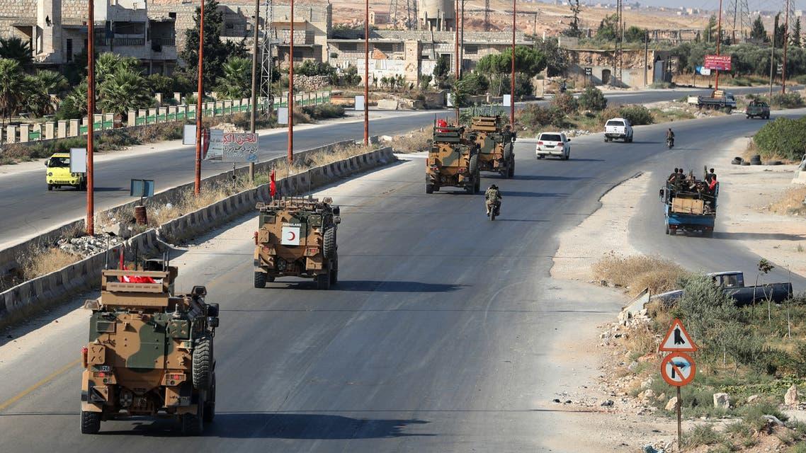 آليات عسكرية تركية في إدلب(فرانس برس)