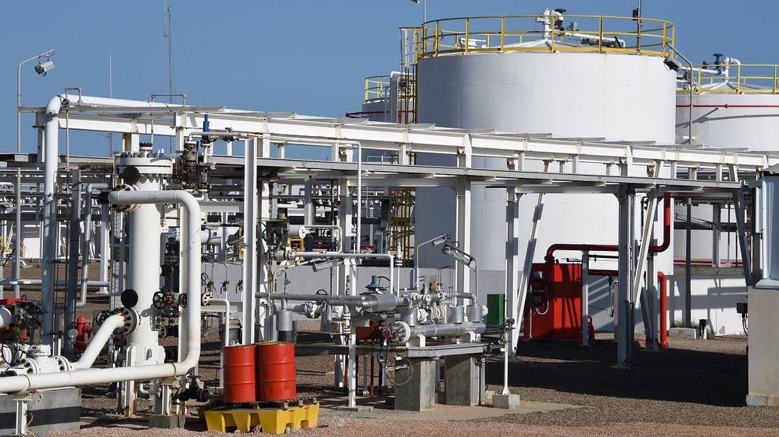 Chergui gas field concession of the UK-based oil company Petrofac on the island of Kerkennah in Tunisia. (AFP)