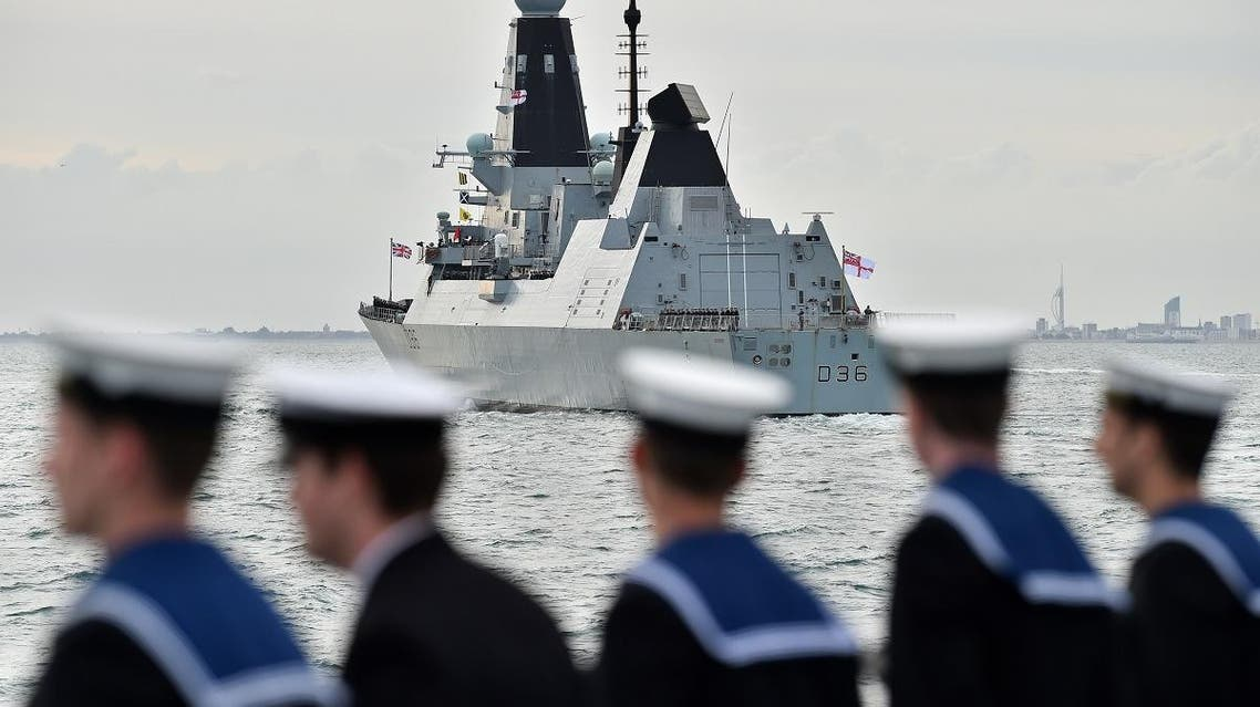 BRITAIN HMS Defender WARSHIP. (AFP)