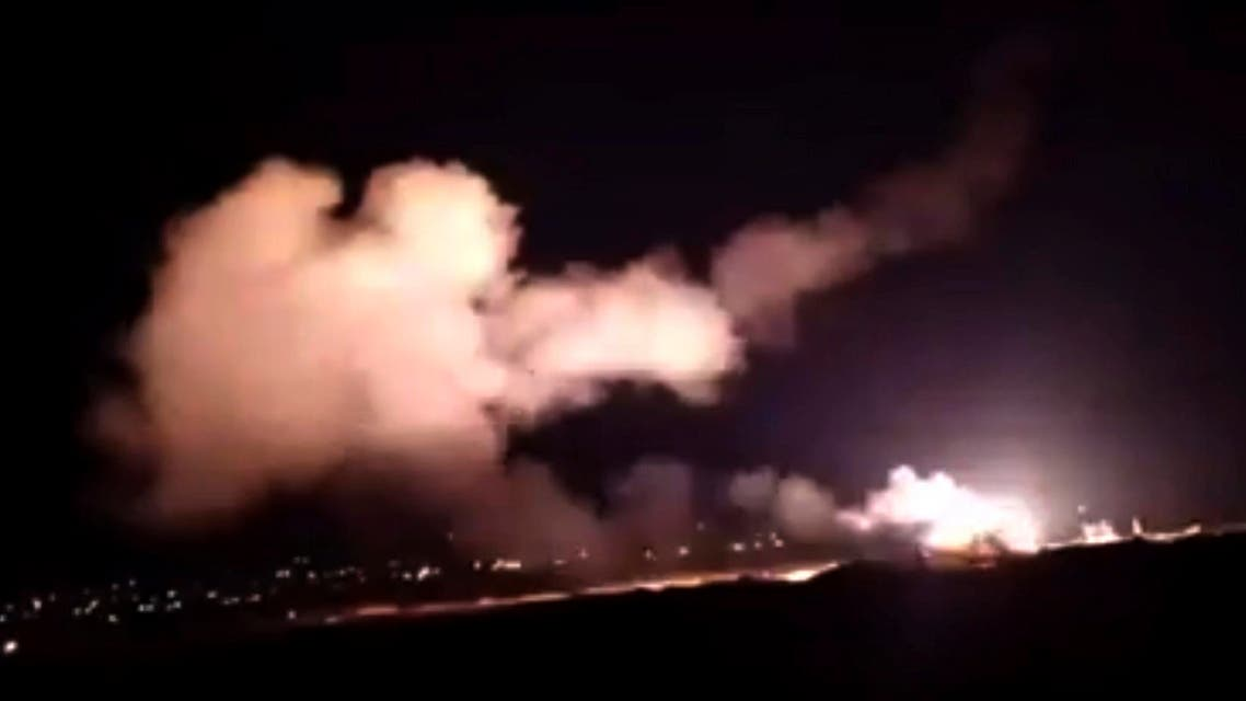 In this Tuesday, Dec. 25, 2018 file frame grab from a video provided by the Syrian official news agency SANA shows missiles flying into the sky near Damascus, Syria. (File photo: SANA/AP)