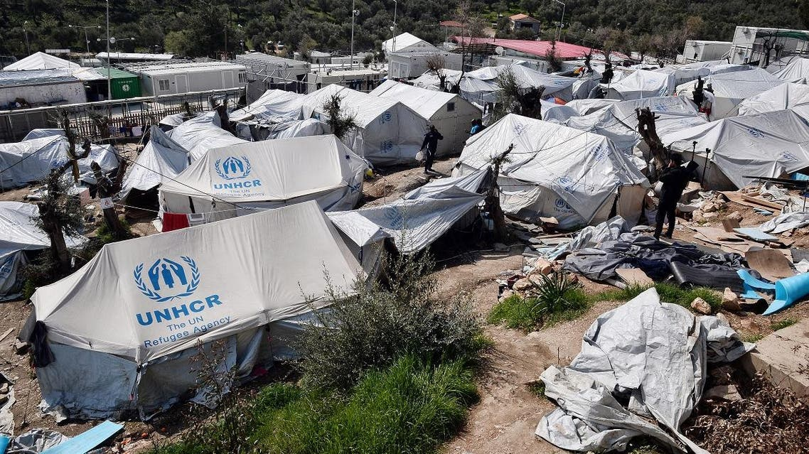 A view of the Moria migrant camp on the island of Lesbos. (File photo: AFP)