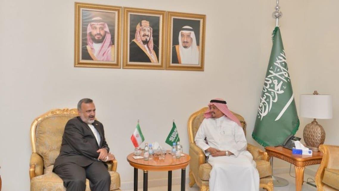 استقبال وزیر حج و عمره سعودی از رئیس سازمان حج و زیارت ایران