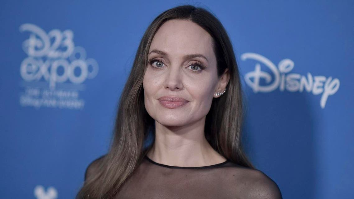 Angelina Jolie attends the Go Behind the Scenes with the Walt Disney Studios press line at the 2019 D23 Expo on Saturday, Aug. 24, 2019, in Anaheim, Calif. (AP)