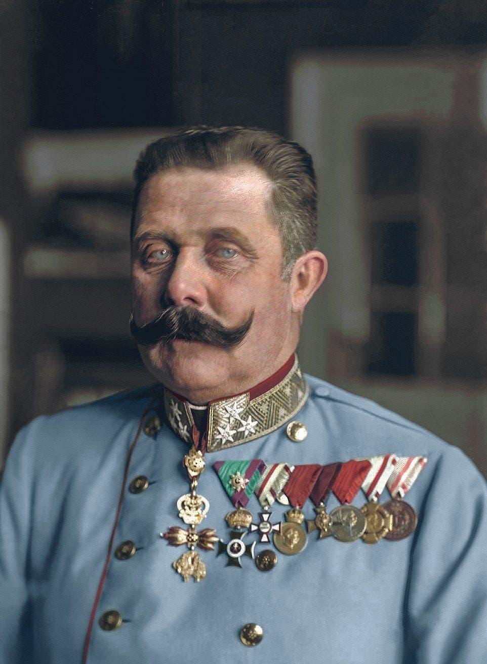 صورة ملونة اعتماداً على التقنيات الحديثة لولي عهد النمسا فرانز فرديناند