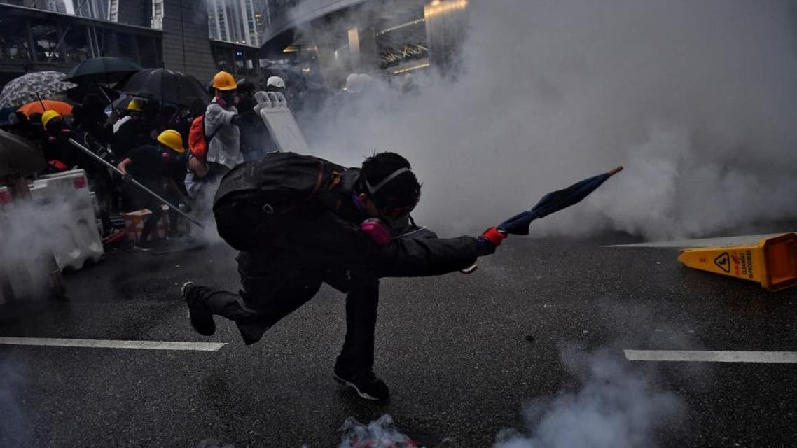 Hong Kong water cannon afp