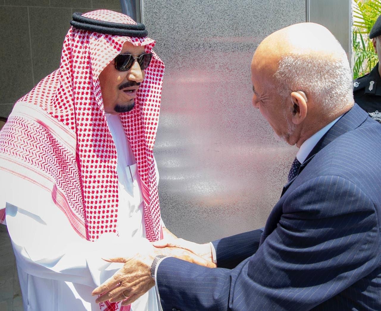 Saudi King Salman bin Abdulaziz received the President of Afghanistan Ashraf Ghani at the al-Salam Palace in Jeddah on Sunday - spa
