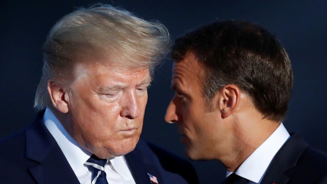 الرئيسان الفرنسي ماكرون والأميركي ترمب