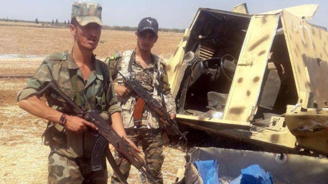 Syrian army in Khan Shaikhon