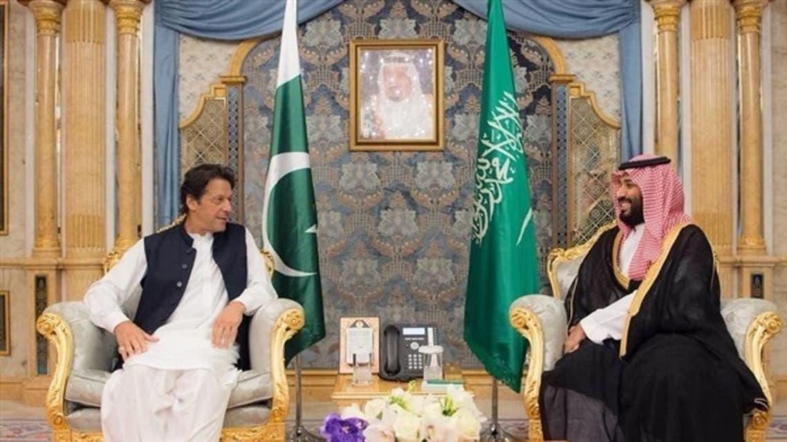 ولي العهد السعودي الأمير محمد بن سلمان بن عبدالعزيز في لقاء سابق مع رئيس الوزراء الباكستاني عمران خان