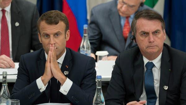 """ماكرون يرد على """"سخرية"""" رئيس البرازيل من زوجته: وقح للغاية"""
