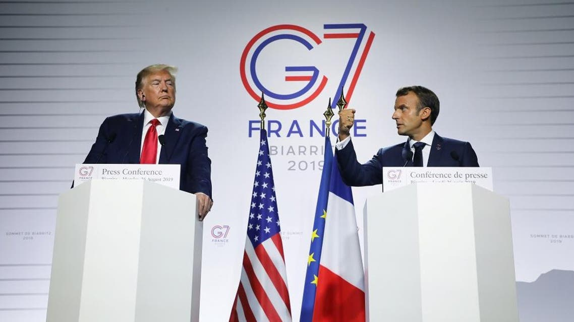 macron trump g7 credit: AFP
