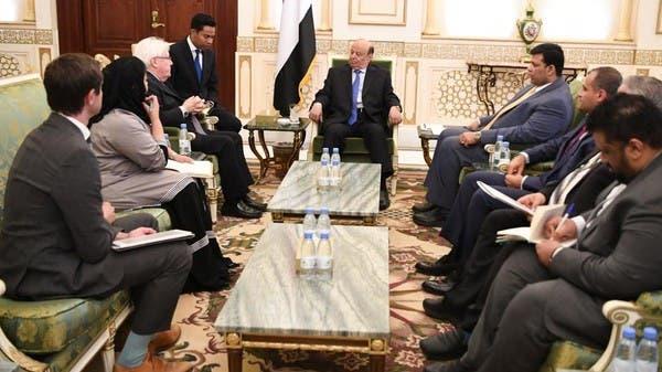 هادي: نعمل مع التحالف بقيادة السعودية لتجاوز تداعيات الأحداث الأخيرة