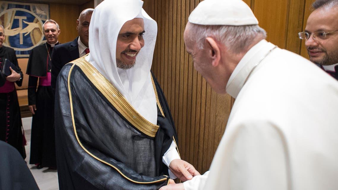 Muhammad al-Issa, Secretary General of the Muslim World League, at the Vatican, Wednesday, Sept. 20, 2017. (Associated Press)