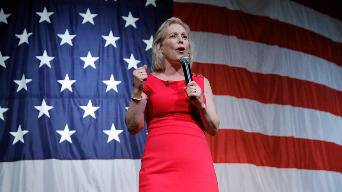 Democratic presidential candidate Sen. Kirsten Gillibrand, D-N.Y., speaks at the Iowa Democratic Wing Ding at the Surf Ballroom. (File photo: AP)