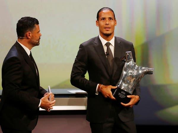 فان ديك يتوج بجائزة أفضل لاعب في أوروبا