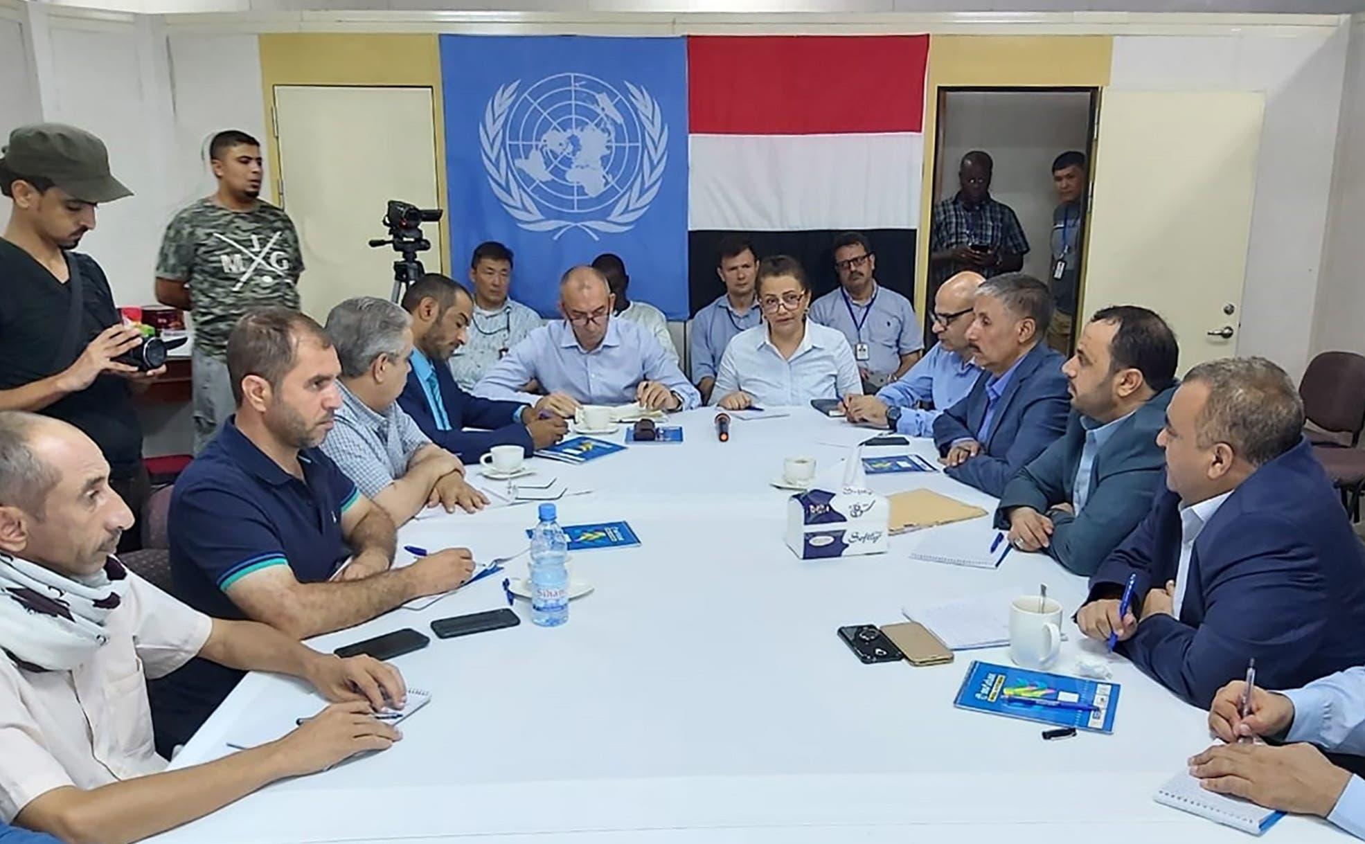 اجتماع  أعضاء الفريق الأممي في الحديدة (أرشيفية- فرانس برس)