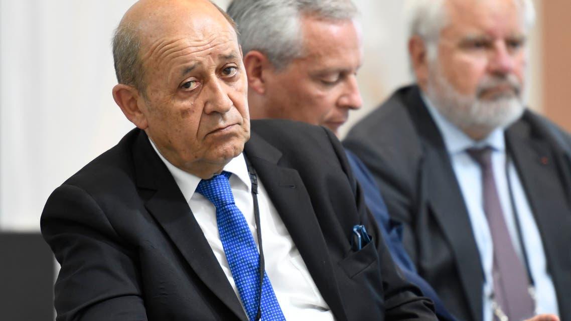 وزير الخارجية الفرنسي لو دريان(فرانس برس)