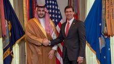 Saudi Arabia's Vice Defense Minister discusses de-escalation with Esper