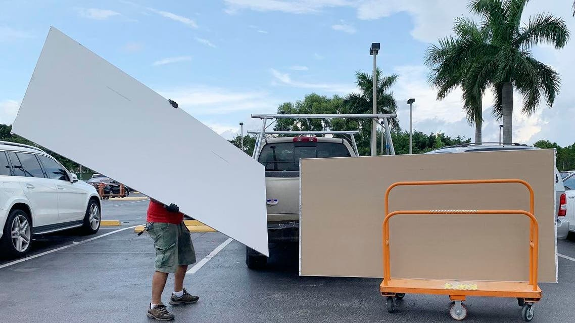 Shoppers prepare ahead of Hurricane Dorian at The Home Depot on  August 29, 2019, in Pembroke Pines, Florida. (AP)