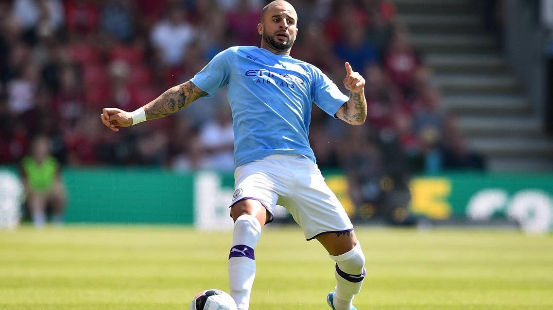 Manchester City's English defender Kyle Walker controls the ball during the Premier League football match against Bournemouth on August 25, 2019. (AFP)