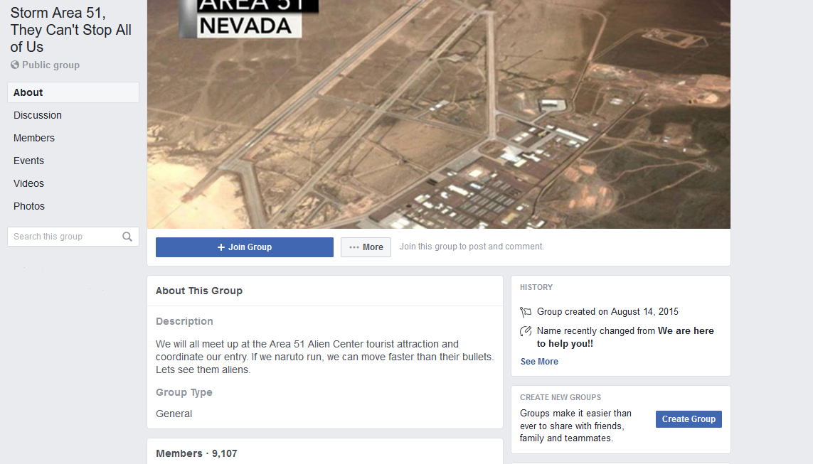 Storm Area 51 Facebook screen grab
