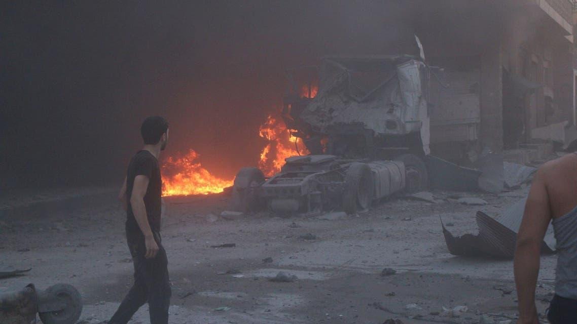 من القصف في إدلب