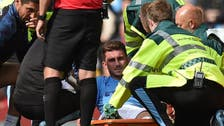 Laporte injury mars Man City's 4-0 win over Brighton