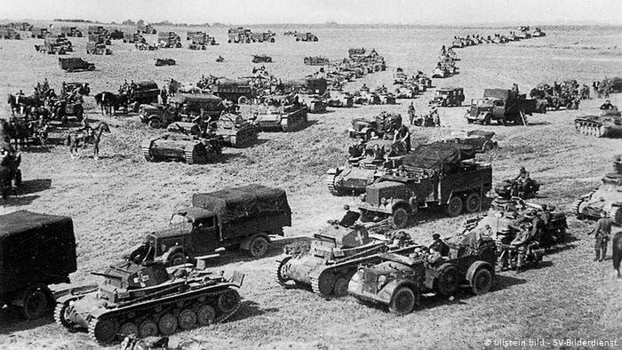 جانب من القوات الألمانية ببولندا سنة 1939