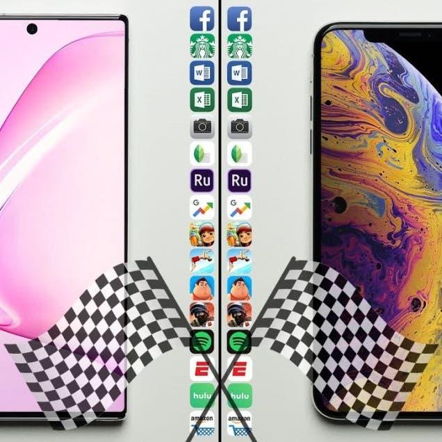 شاهد مواجهة بين: Galaxy Note10+ و iPhone XS Max فمن الفائز؟