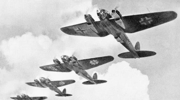 صورة لعدد من الطائرات الألمانية خلال الحرب العالمية الثانية