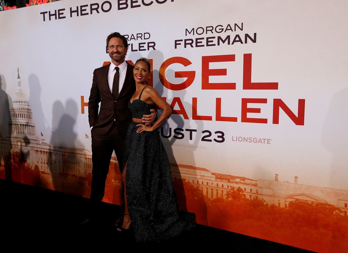 "Gerard Butler and Jada Pinkett Smith attend the premiere for the film ""Angel Has Fallen"" in Los Angeles, California. (Reuters)"