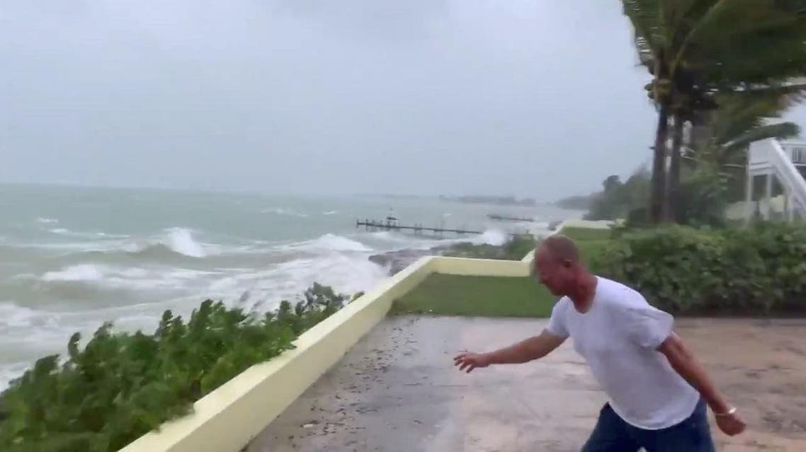 Sea conditions are seen in Marsh Harbour, Bahamas September 1, 2019 in this still image taken from a video by social media. (Mark Hall/Christopher Hall via Reuters)