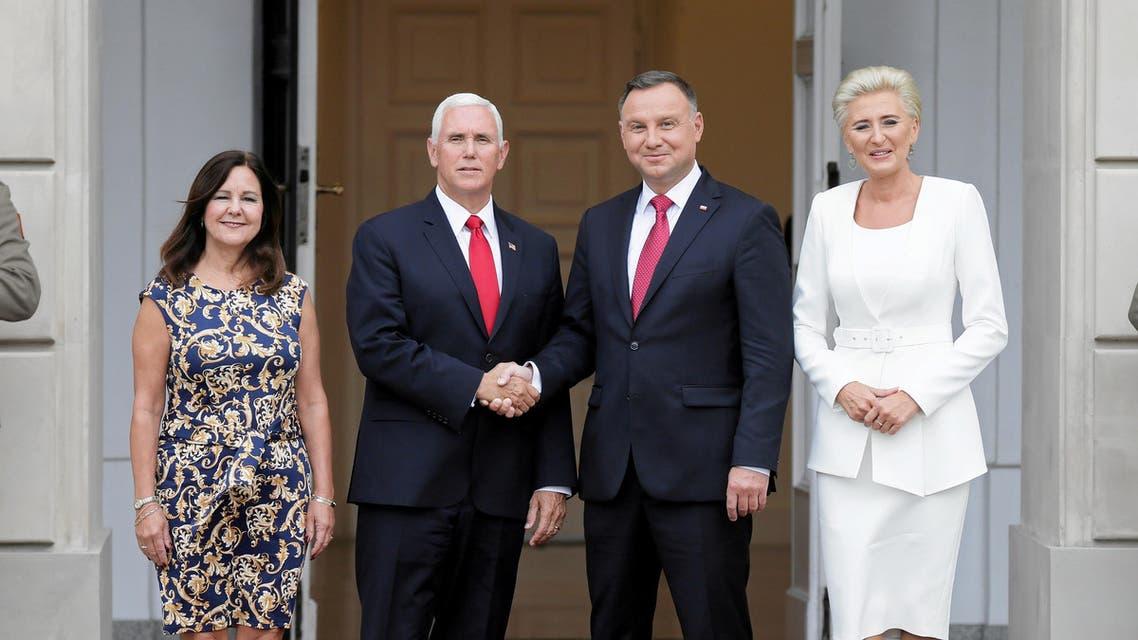 Duda Pence visit to Poland - Reuters